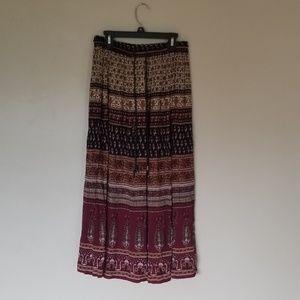 Sag Harbor petite boho printed skirt